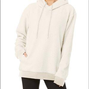 alo yoga white  hoodie size S